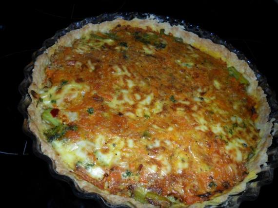 tarte aux légumes mixés