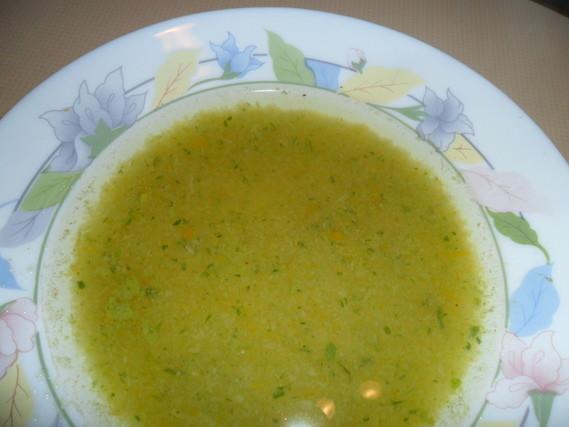 potage aux légumes crus
