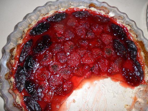 Tarte fraises-prunes