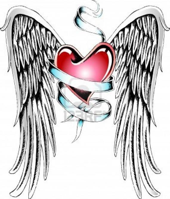 10055291 Tatouage De Coeur Ange Mes Petits Kiffs Chacha7778