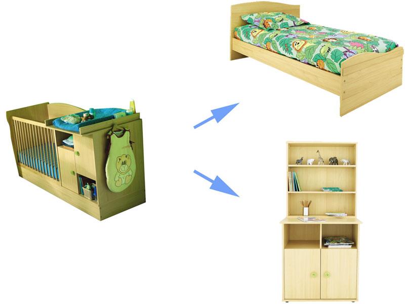 cc une simple question pour celle qui pouront me rpondre je compte acheter ce lit mais jaimerais savoir si la table a langer on peut la mattre a gauche du - Lit Evolutif Conforama