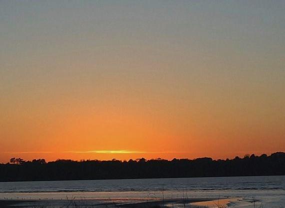 coucher de soleil à St Michel En Grève