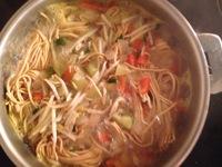 One pot pasta / Cuisson nouilles chinoises / On mange quoi ce soir ?  ©