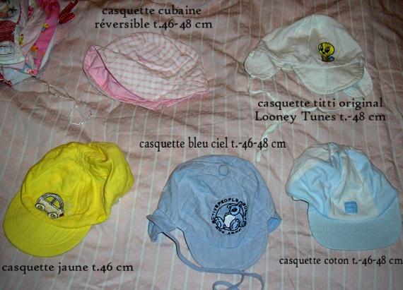 casquettes t.46-48 cm