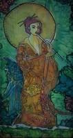 soie femme parasol