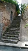 escalier d'époque pour accèder Vieux Clairac
