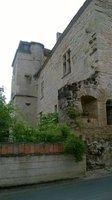 côté du château une partie s'est écroulée