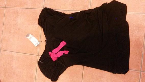 Haut noir avec noeud rose Morgan taille M neuf