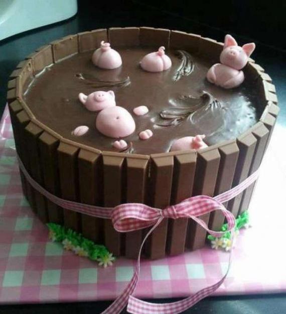 La piscine des petits cochons....