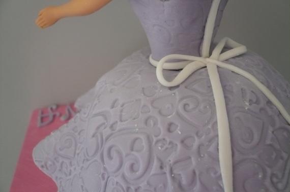 gateau princesse détail texture