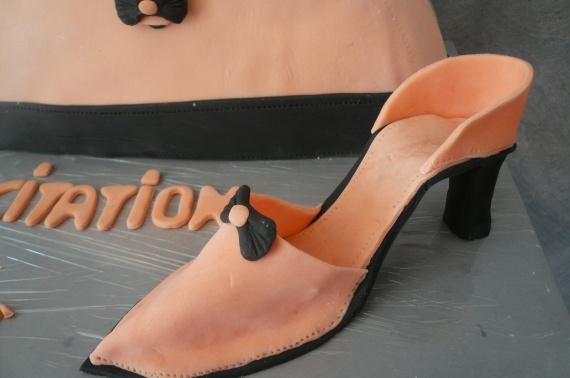 chaussure en pate à sucre