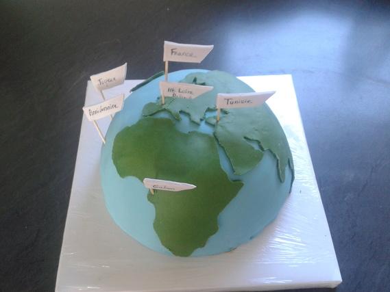 gateau mappemonde Terre
