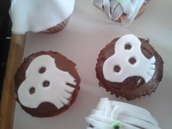 cupcakes tete de mort