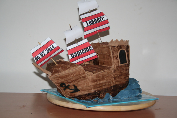 gateau bateau de pirate - maniedesgateaux