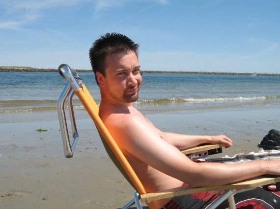 sur la plage:)