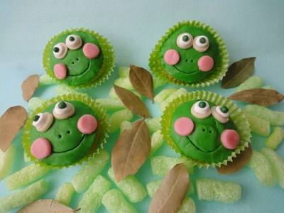 a cupcakes grenouille
