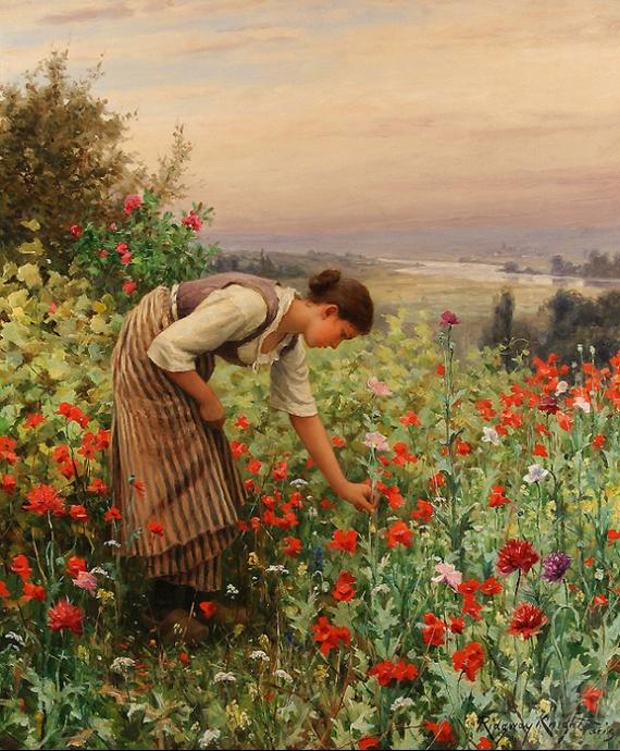 15034459_Daniel_Ridgway_Knight__Girl_Picking_Poppies