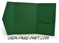faire part pochette vert forêt