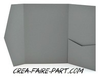 faire part pochette gris souris 2