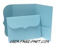 pocket  bleu clair