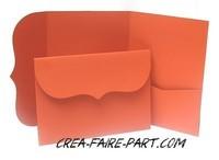 modèle rétro orange intense