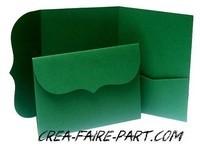 modèle rétro vert feuille