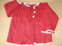 Veste laine fait main 6-12 mois 4€