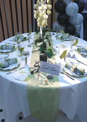 Table esprit zen theme de notre mariage deco salle et tables mes go - Idee theme de mariage ...