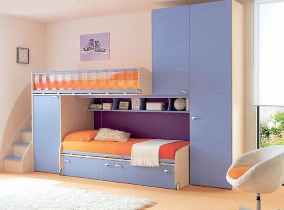 lit superpose avec rangements pour enfant garcon 275570. Black Bedroom Furniture Sets. Home Design Ideas
