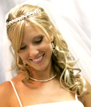 Coiffure mariage 2010 cheveux mi long