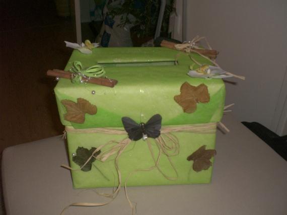 Un coup de pouce vert anis et choco mariage forum vie - Fabriquer une chaussure en carton ...