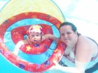 samedi passer a la piscine moi et daphnée