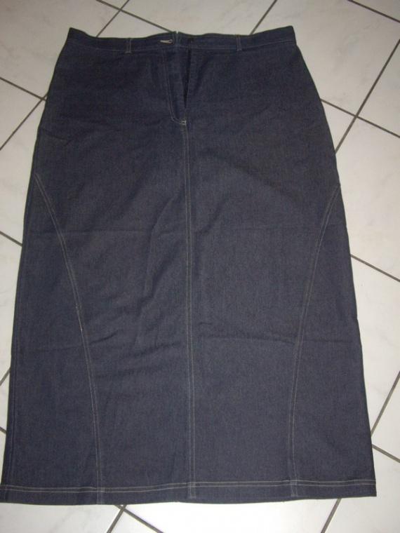 jupe jean foncé taille 50