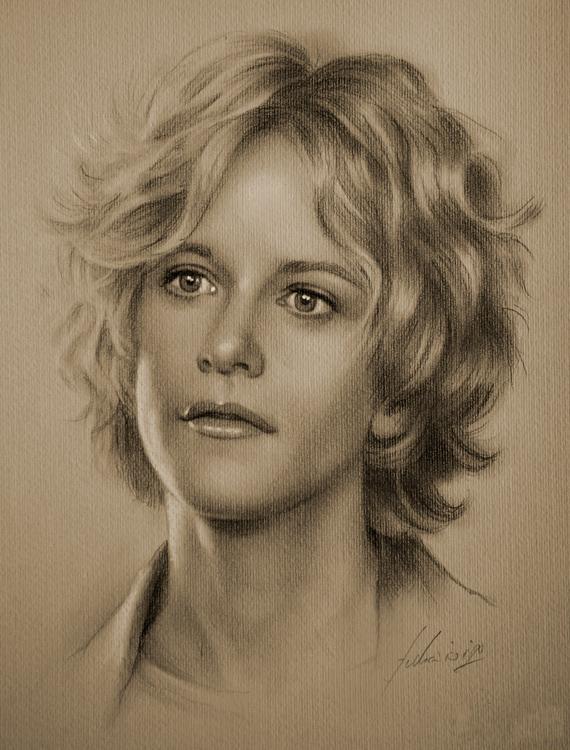 Linda moni photos portraits dessines portrait au crayon 11