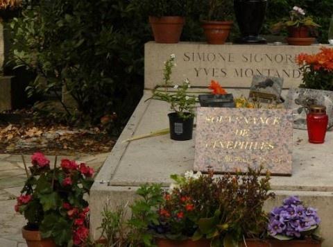 Simone Signoret et Yves Montant.