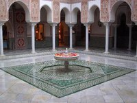 Le patio de La Mamounia à Marrakech-