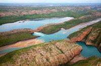 Australie, cascades horizontales de la baie de Talbot