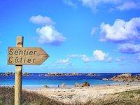 Bretagne, sentier-cotier
