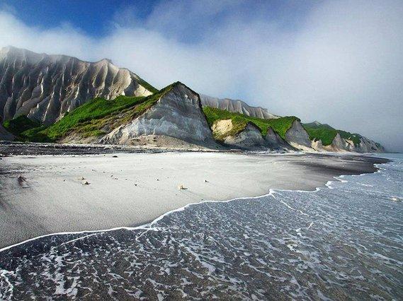 côte de Itouroup, îles Kouriles, Russie