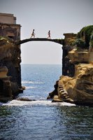 Gaiola Bridge, Naples, Italy