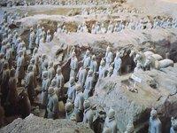 Guerriers en terre cuite Xian, Chine