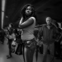 Miradas en el metro de Barcelona-