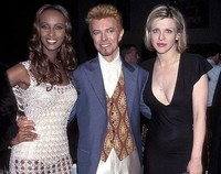 With Iman & Courtney Love at Wembley '97