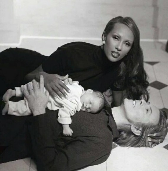 David Bowie and Iman with their daughter Lexi, September 1st 2000-