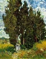 Van Gogh - Cyprès et personnages