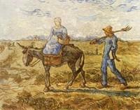 Van Gogh - Couple de paysans s'en allant aux champs