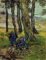 Van Gogh - Deux hommes creusant près des arbres