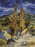 Van Gogh - Deux peupliers sur le chemin des collines