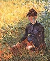 Van Gogh - Femme assise dans l'herbe