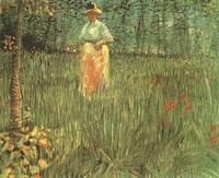 Van Gogh - Femme dans un jardin